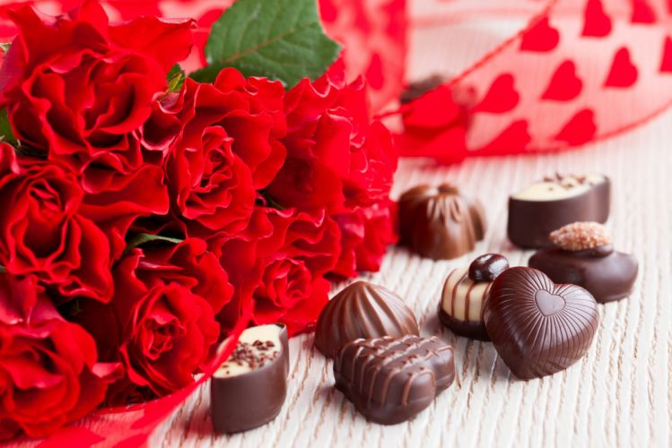 rose flowers love life Chocolate presents wallpaper