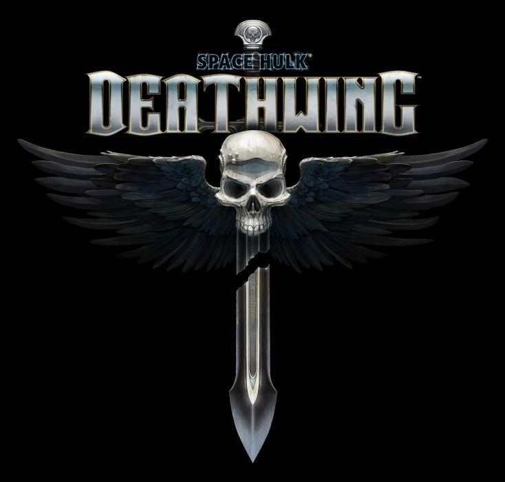 SPACE HULK Deathwing fantasy fighting warhammer action futuristic sci-fi warrior armor poster dark skull wallpaper