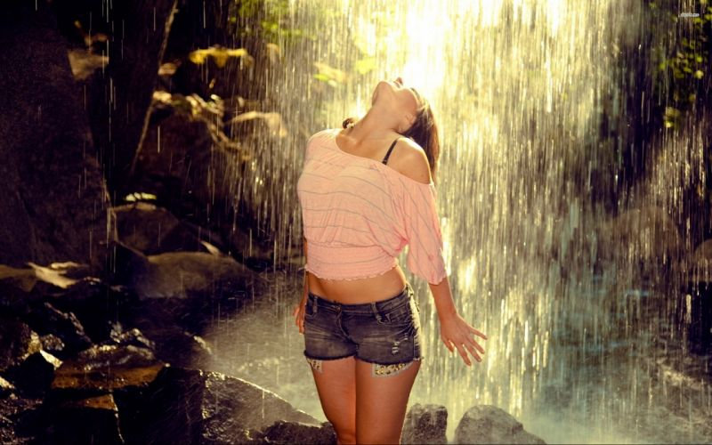 18930-girl-at-the-forest-waterfall-2560x1600-girl-wallpaper wallpaper