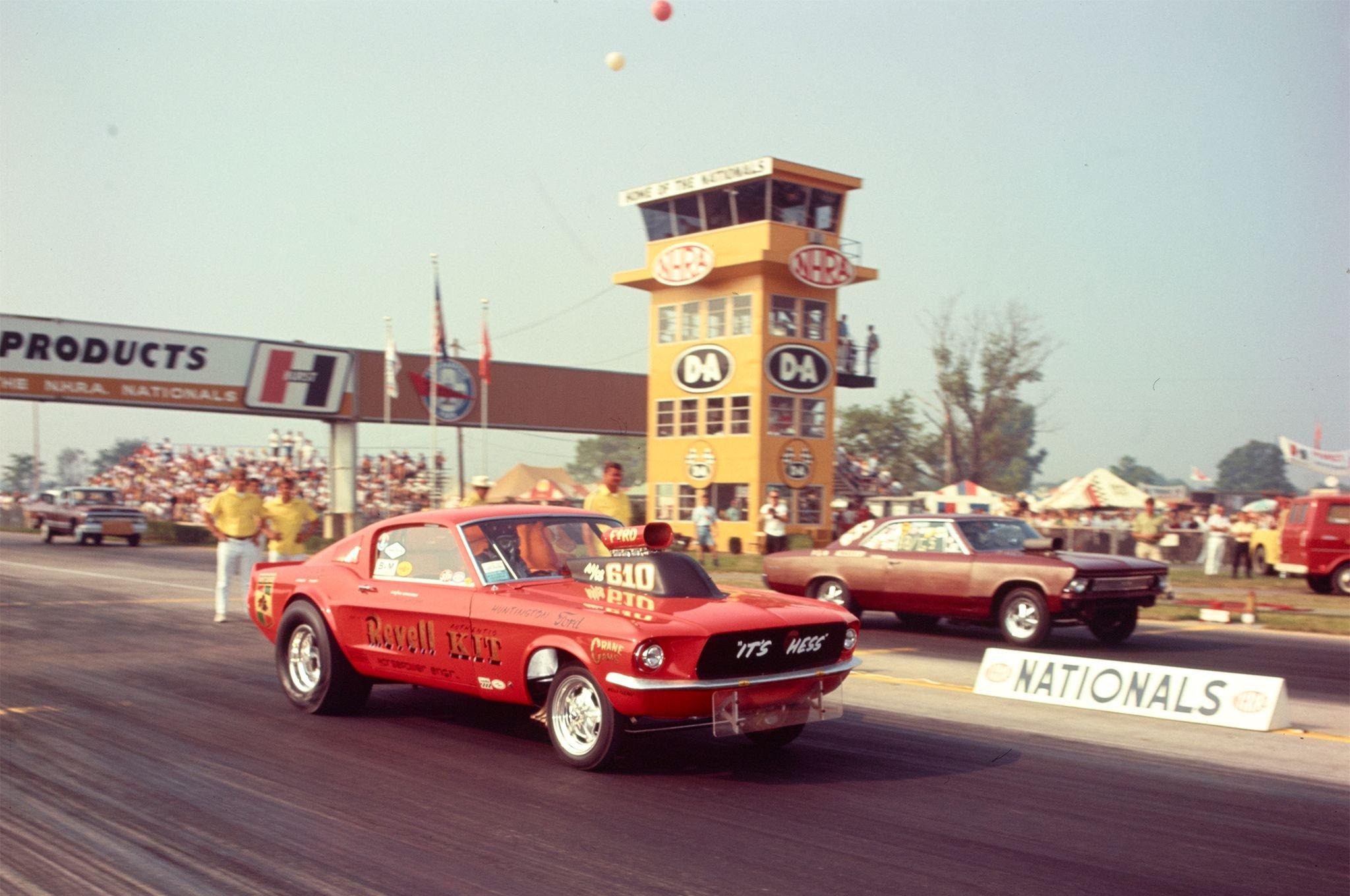 1968 Ford Mustang Drag Racer-01 wallpaper