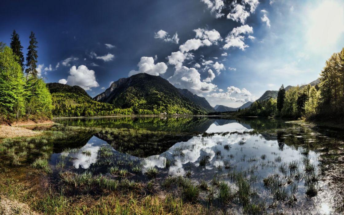 landscape nature beautiful forest area wild sky landscapes wallpaper