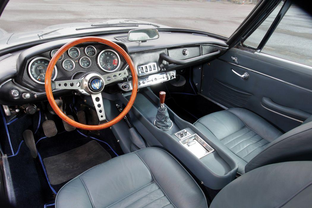 Maserati Mistral coupe cars classic interior wallpaper