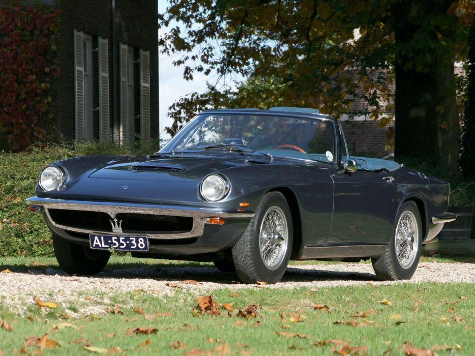 Maserati Mistral spider spyder cars classic wallpaper