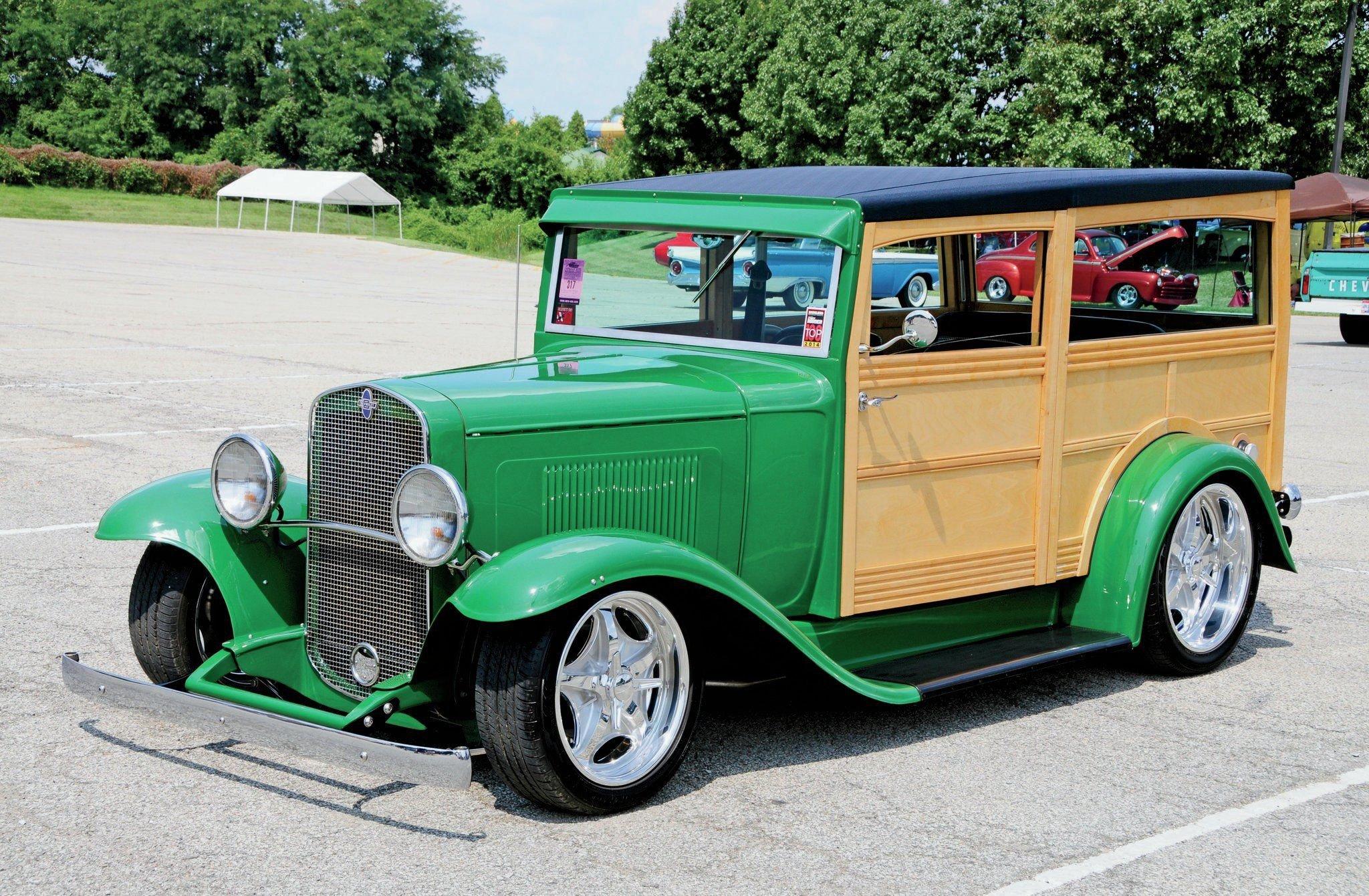 1931 Chevrolet Woodie Wagon-01 wallpaper