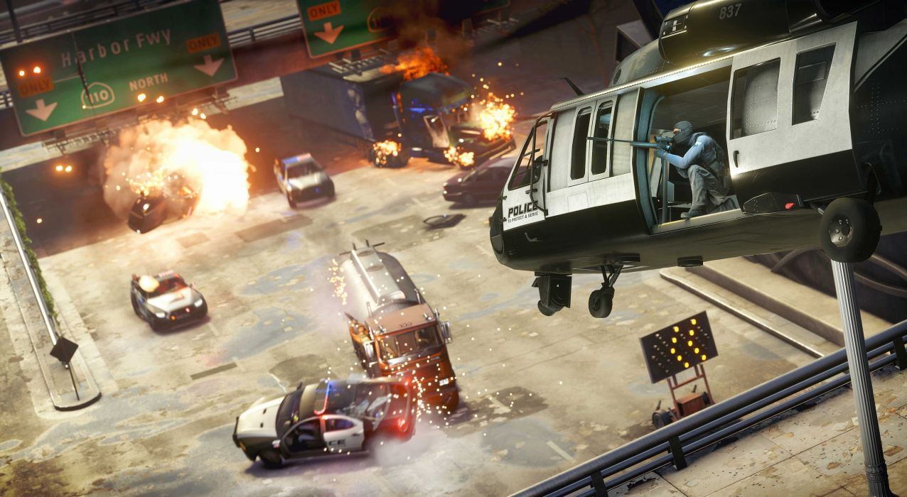 BATTLEFIELD Hardline shooter fighting military action stealth tactical fps crime helicopter wallpaper