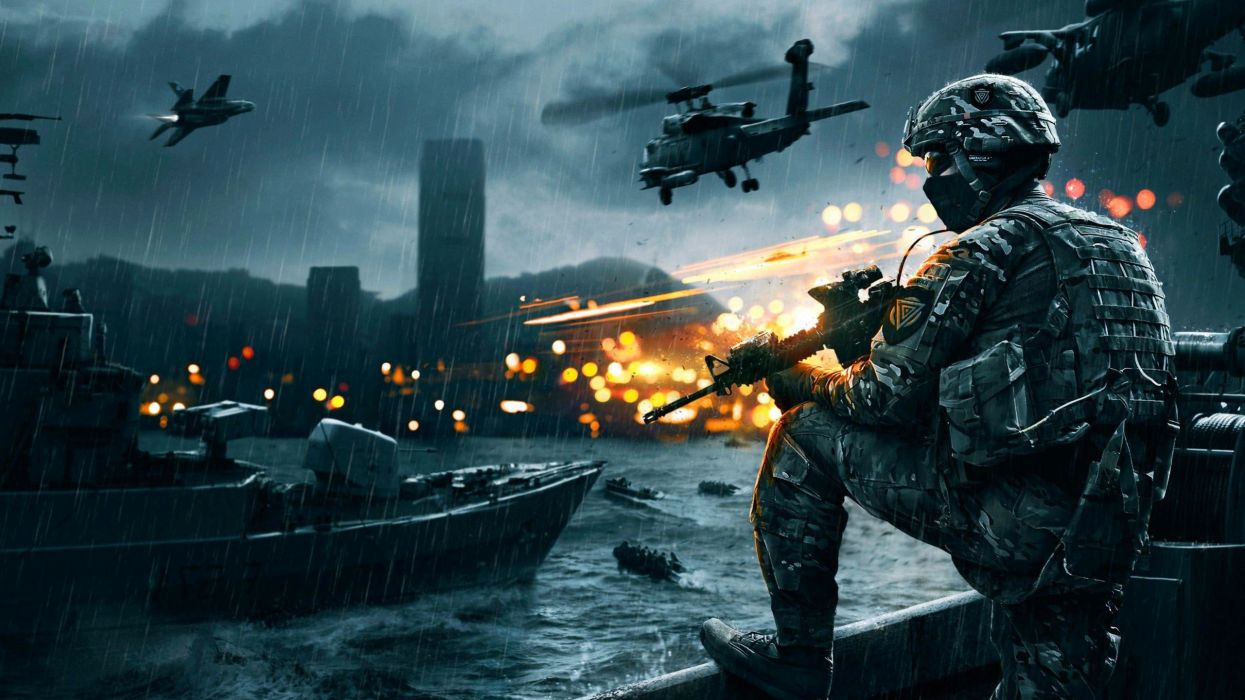 BATTLEFIELD NAVAL STRIKE shooter fps action military tactical stealth poster helicopter wallpaper