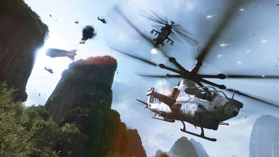 BATTLEFIELD CHINA RISING shooter tactical stealth action military helicopter wallpaper
