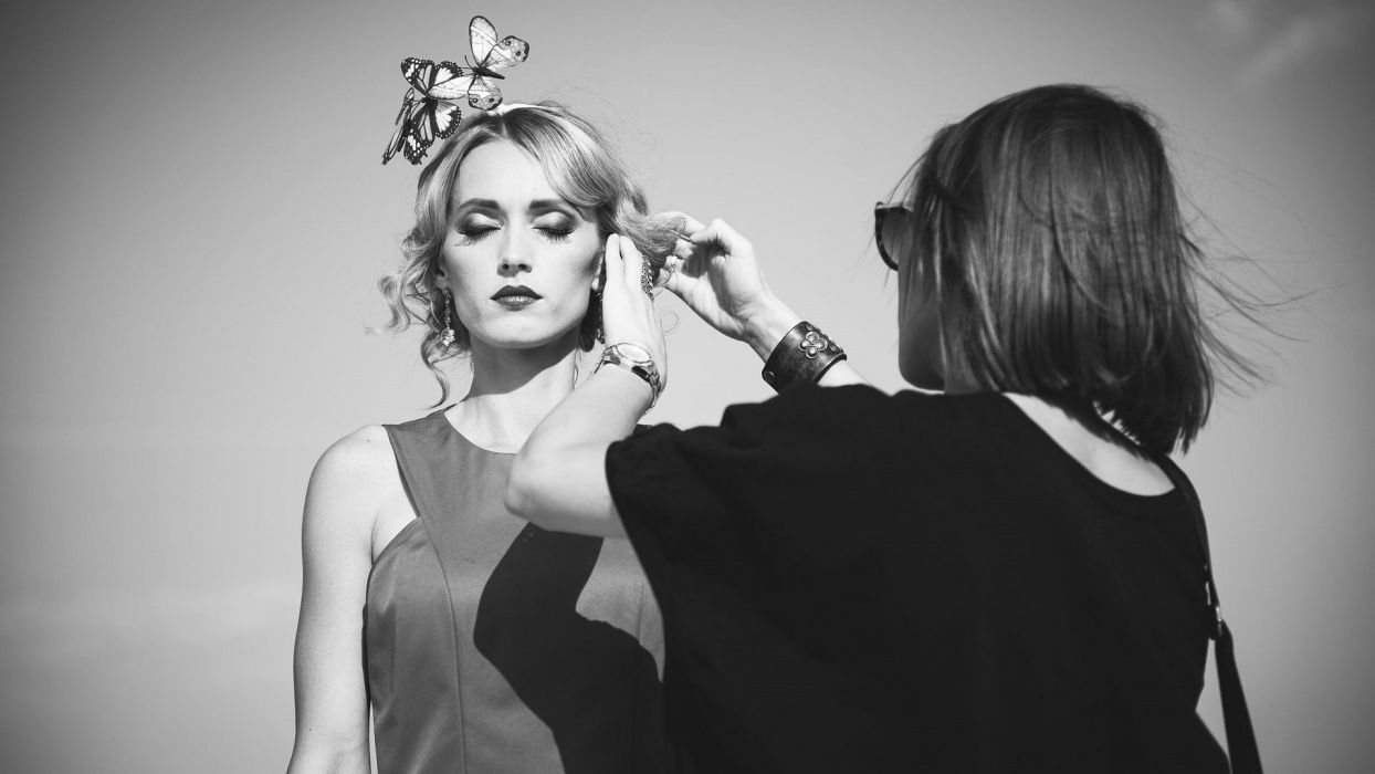 Ukrainian singer Aida Nikolaychuk beauty woman blonde wallpaper