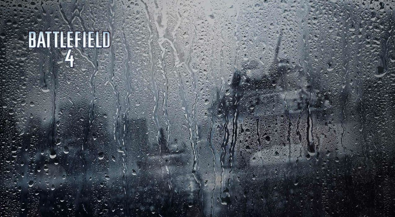 BATTLEFIELD 4 shooter tactical stealth fighting action military four poster rain drops window glass wallpaper