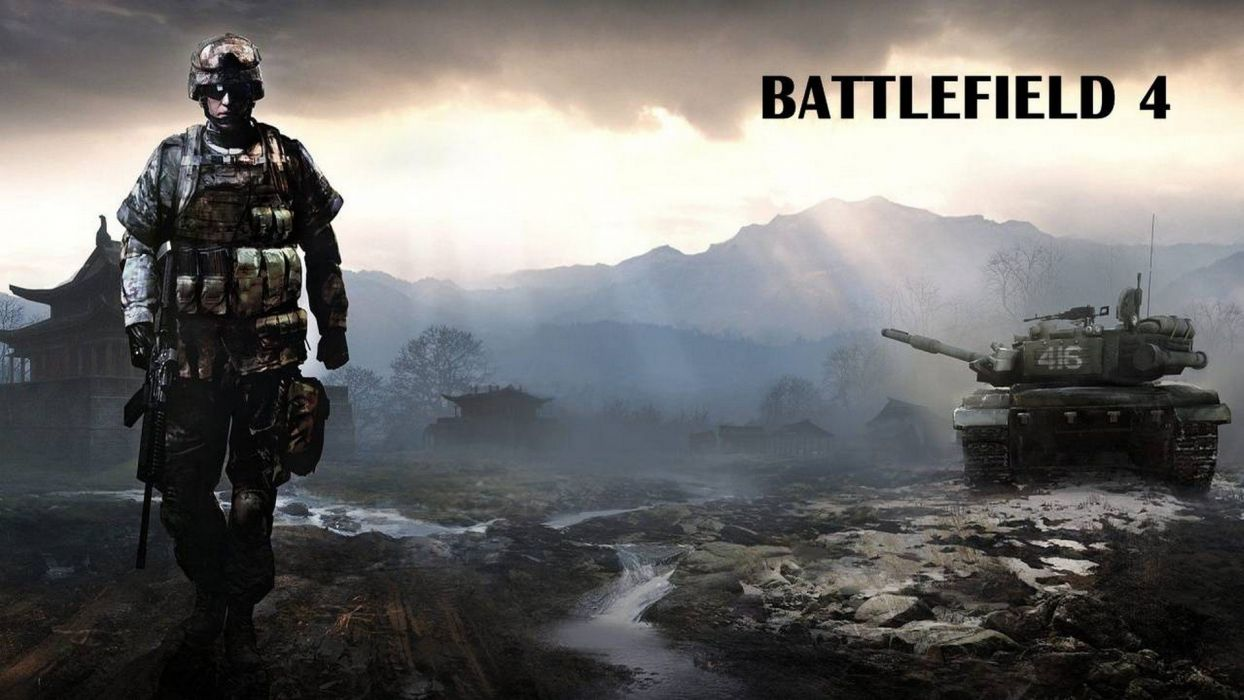 BATTLEFIELD 4 shooter tactical stealth fighting action military four poster wallpaper