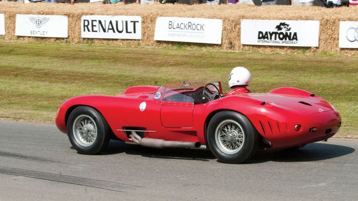 1956 450s car classic Maserati prototype racecar wallpaper