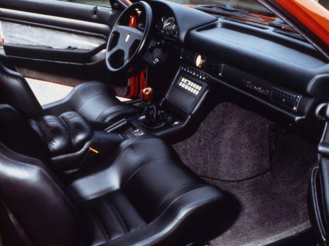 Maserati Shamal coupe cars classic interior wallpaper