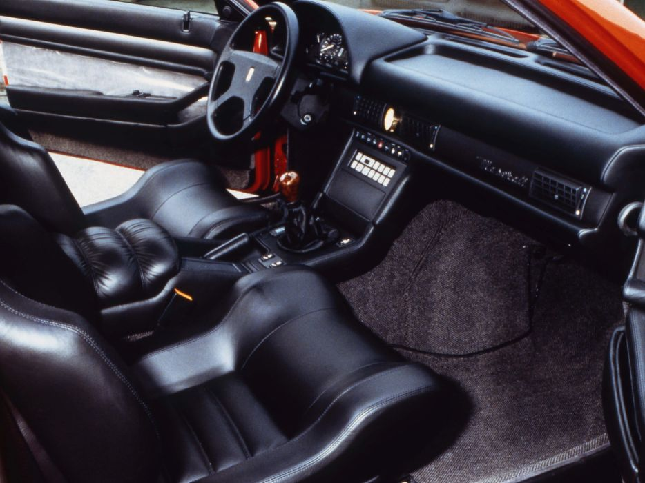 Maserati Shamal coupe cars classic interior wallpaper