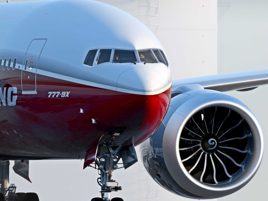 BOEING 777x airliner aircraft airplane jet transport 777 wallpaper