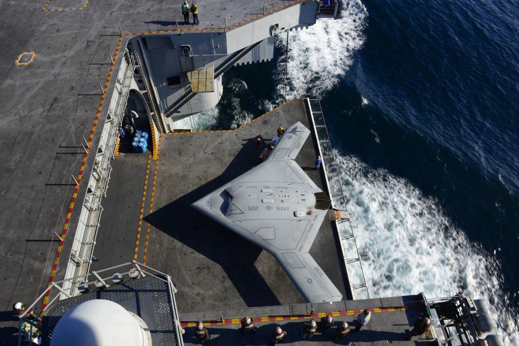 Northrop Grumman X-47B fighter jet concept drone military boeing wallpaper