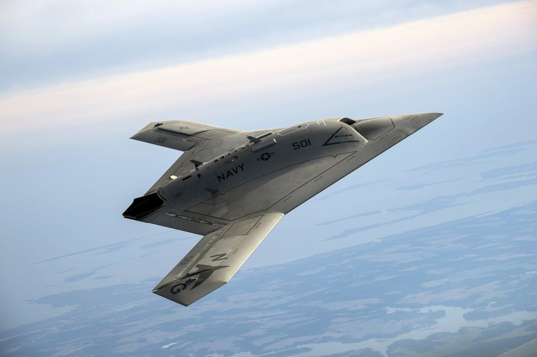 Northrop Grumman X-47B fighter jet concept drone military boeing wallpaper