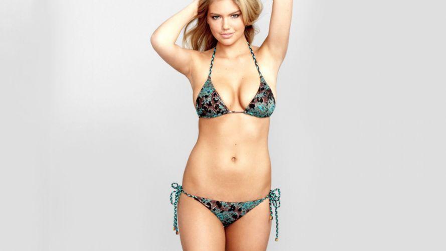 KATE UPTON actress model elite sexy babe blonde swimwear bikini wallpaper