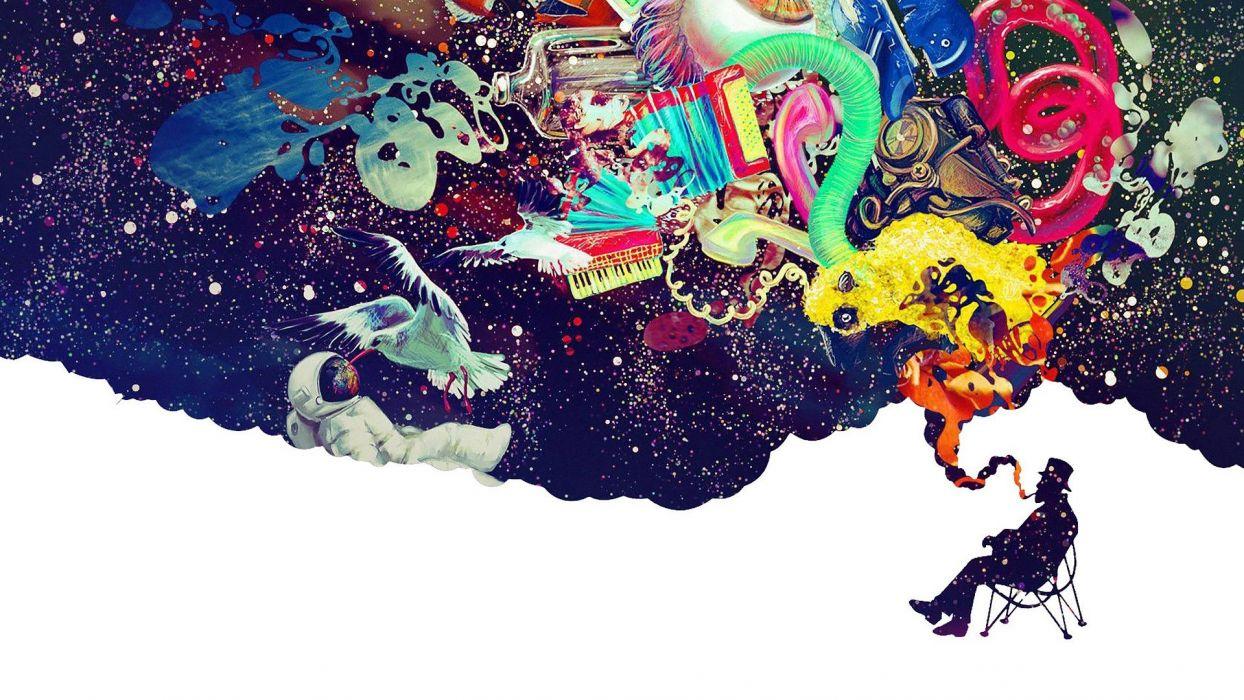 brain anatomy psychedelic dream fantasy wallpaper