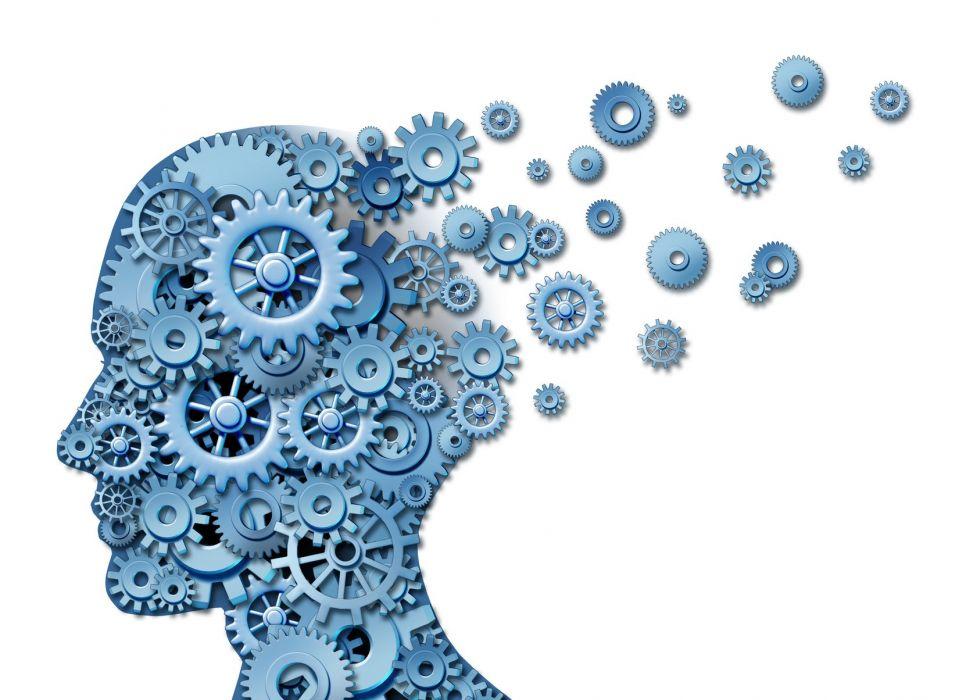 brain anatomy medical head skull digital 3-d x-ray xray psychedelic gear gears wallpaper