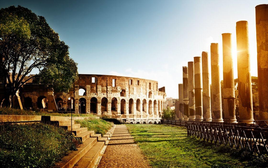 coliseo-roma-ruinas-italia-antiguedad wallpaper