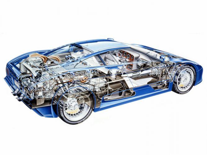 Bugatti EB110-GT Prototype cars supercars 1991 wallpaper