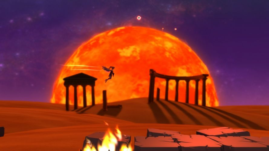 NYXQUEST platform fantasy greece gods god 1nyxquest icarian puzzle nintendo wii action Nyx Quest poster wallpaper