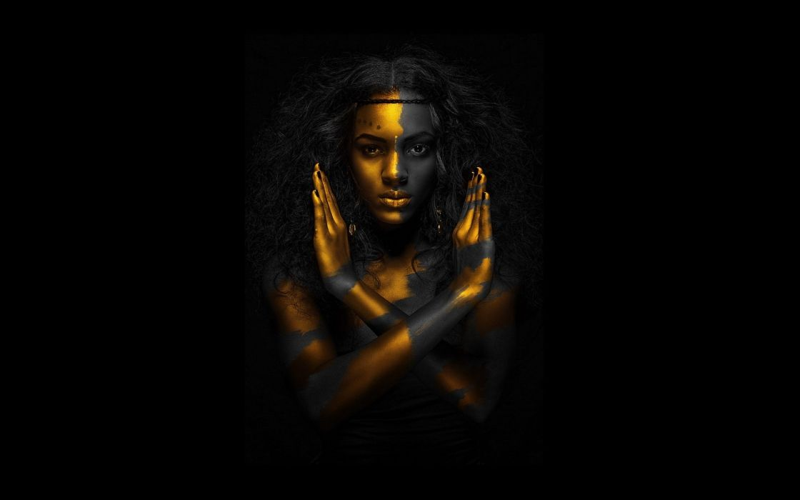 Egyptian qeen gold black woman 1920x1200 resolution wallpaper