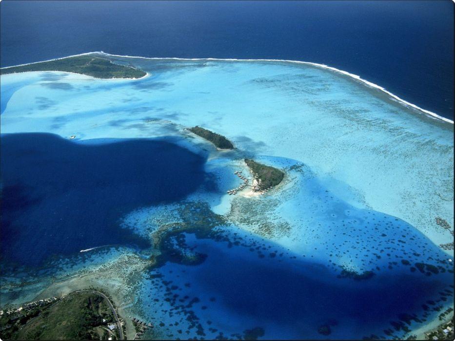 Coralia Motu Resort Bora Bora French Polynesia wallpaper
