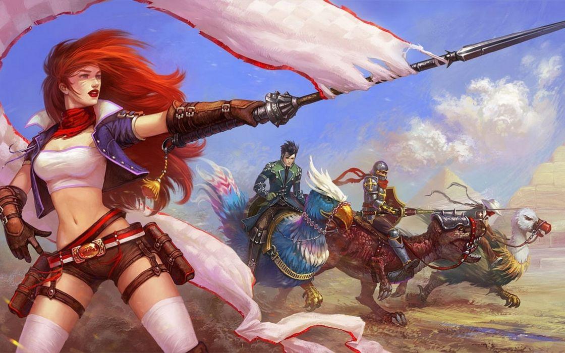 ROYAL QUEST fantasy mmo online rpg fighting technics action warrior wallpaper