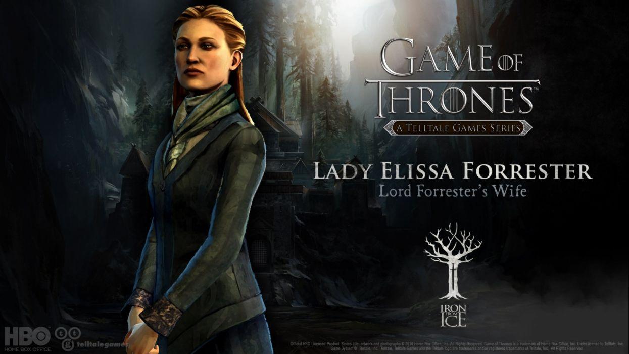 GAME Of THRONES Telltale Game Series fantasy fantasy drama hbo wallpaper