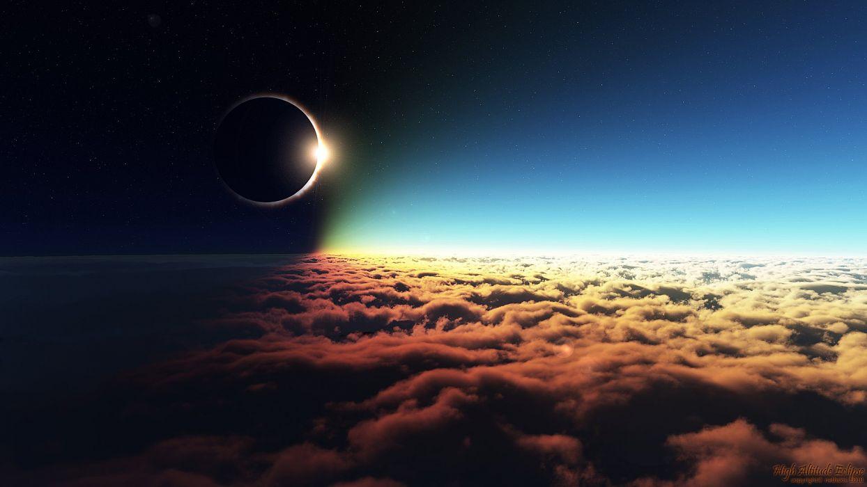 High Altitude Eclipse wallpaper