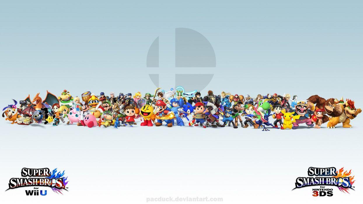 Super Smash Bros Wii U 3DS Wallpaper