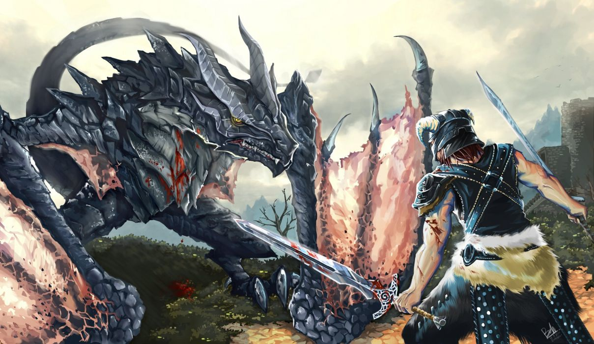 The land of Skyrim wallpaper