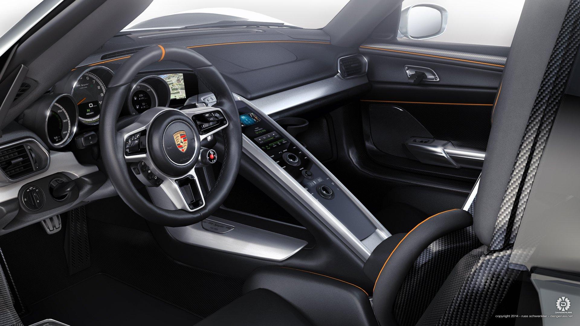 2015 porsche 918 interior wallpaper 1920x1080 615702 wallpaperup - Porsche 918 Production Wallpaper
