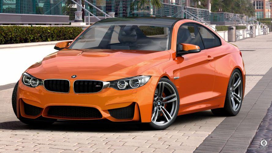 BMW M4 Orange wallpaper