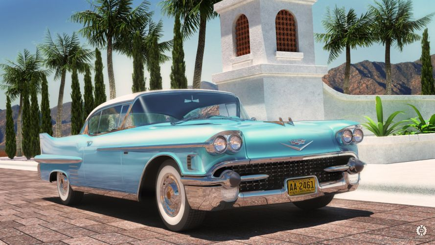 1958 Cadillac DeVille Coupe wallpaper