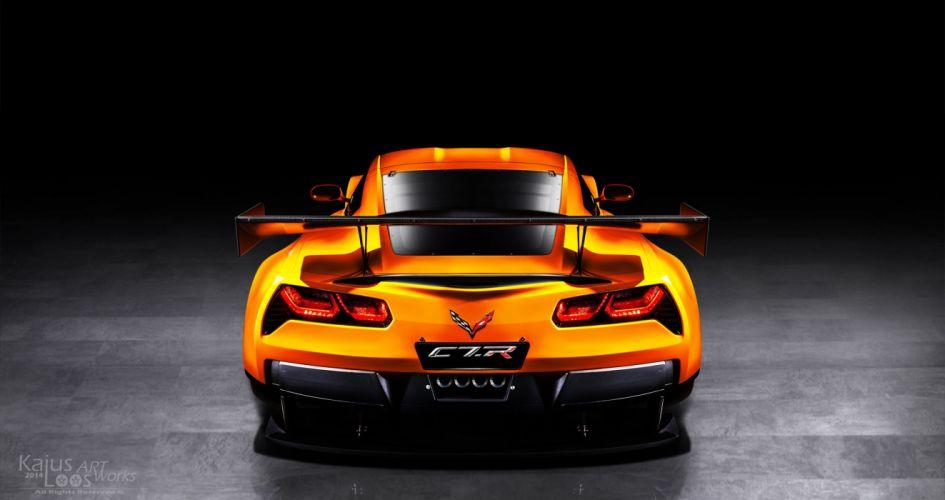 Corvette C7 R Street wallpaper