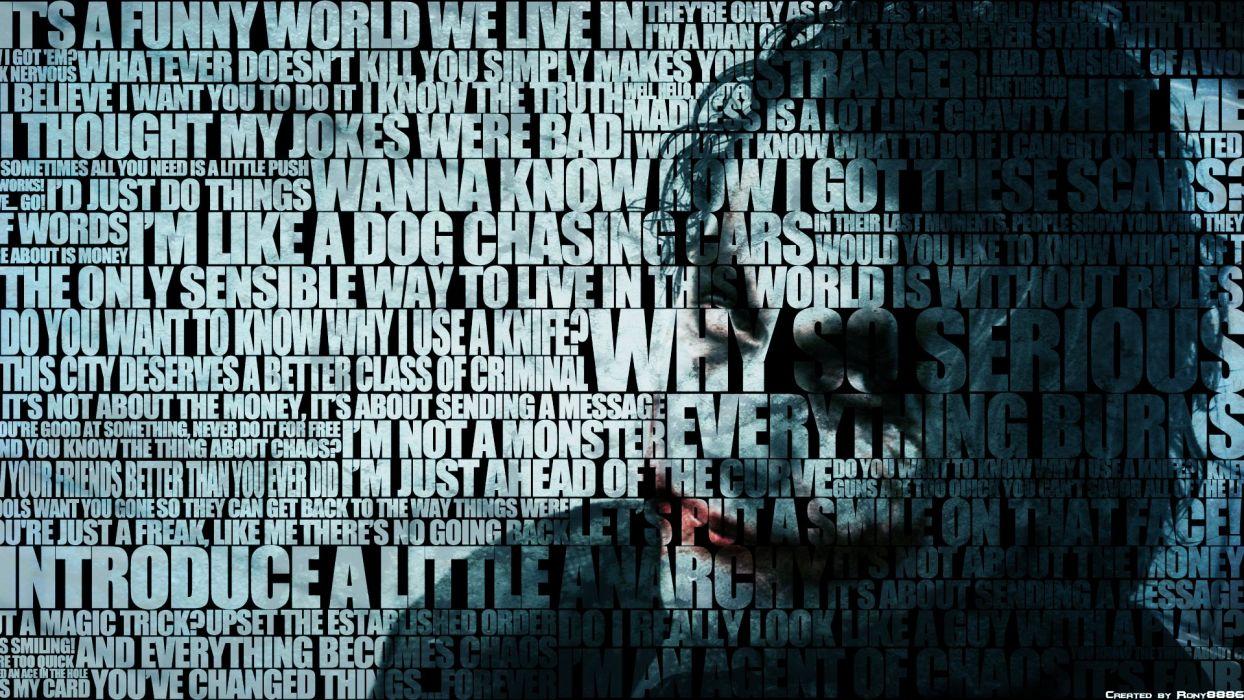 Joker's Quotes wallpaper