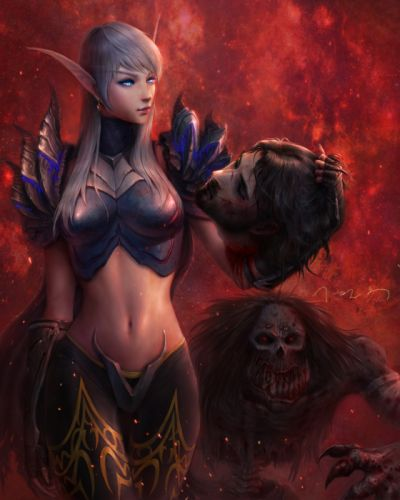 world+of+warcraft-blood+elf-vem-long+hair-single girl wallpaper