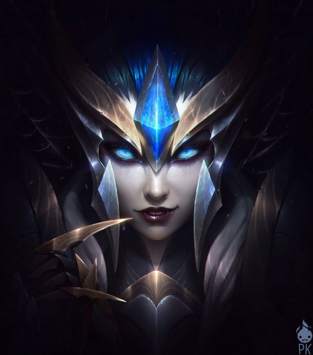 league+of+legends game elise blue eyes fantasy woman wallpaper