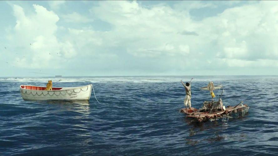 LIFE Of Pi family adventure drama fantasy tiger 3d animation