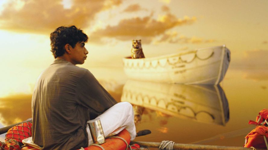 LIFE Of Pi family adventure drama fantasy tiger 3-d animation 1lifepi friend shipwreck predator tiger ocean sea voyage ship boat wallpaper
