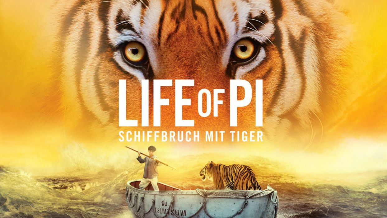 LIFE Of Pi family adventure drama fantasy tiger 3-d animation 1lifepi friend shipwreck predator tiger ocean sea voyage ship boat poster wallpaper