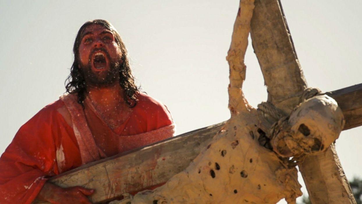 FIST Of JESUS comedy action fighting arcade violence zombie 1fistjesus dark horror blood skull wallpaper