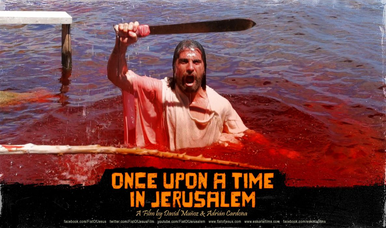 ONCE UPON TIME JERUSALEM comedy action fighting arcade violence zombie 1jerusalem dark horror poster blood wallpaper