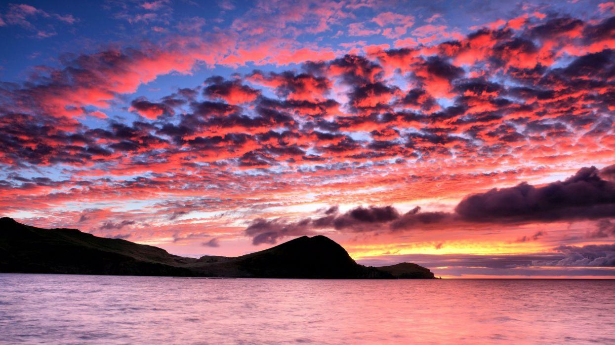 amanecer-mar-cielo*rojo-nube-naturaleza-paisaje wallpaper