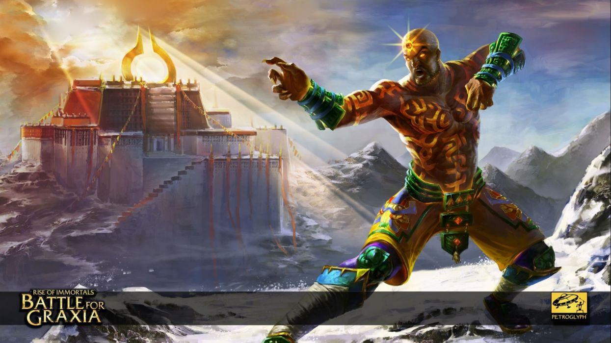 RISE Of IMMORTALS fantasy moba online fighting arena warrior 1riimmortals poster wallpaper