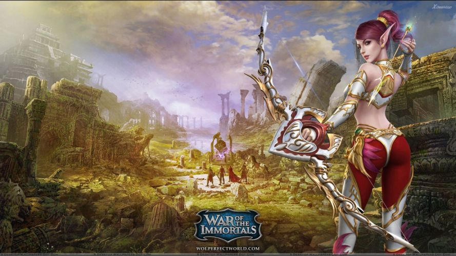 RISE Of IMMORTALS fantasy moba online fighting arena warrior 1riimmortals poster wallpaper