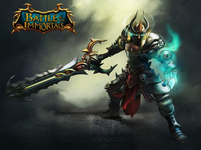 BATTLE Of The IMMORTALS mmo rpg fantasy fighting action 1bimmortals online warrior poster wallpaper