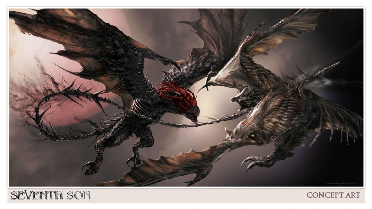 SEVENTH SON adventure fantasy action warrior poster dragon battle artwork wallpaper